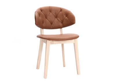 Sedia in simil-pelle, colore: Marrone, modello: SOFFY