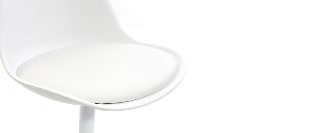 Sedia STEEVY V2 bianca opaca girevole