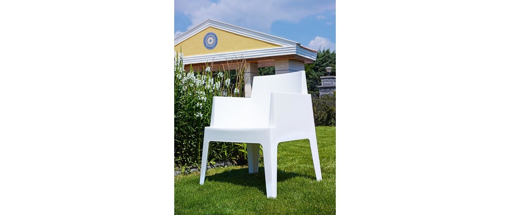 Sedie da giardino design bianche Gruppo di 4 LALI - Miliboo