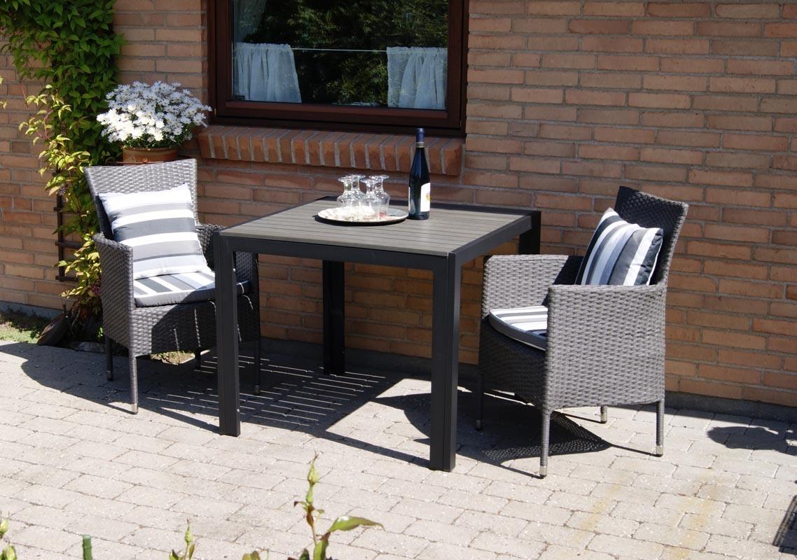 Sedie da giardino design rattan sintetico grigio scuro - Sedie da giardino in rattan ...