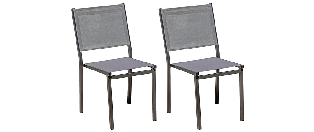 Sedie da giardino impilabili grigie (set di 2) PORTOFINO