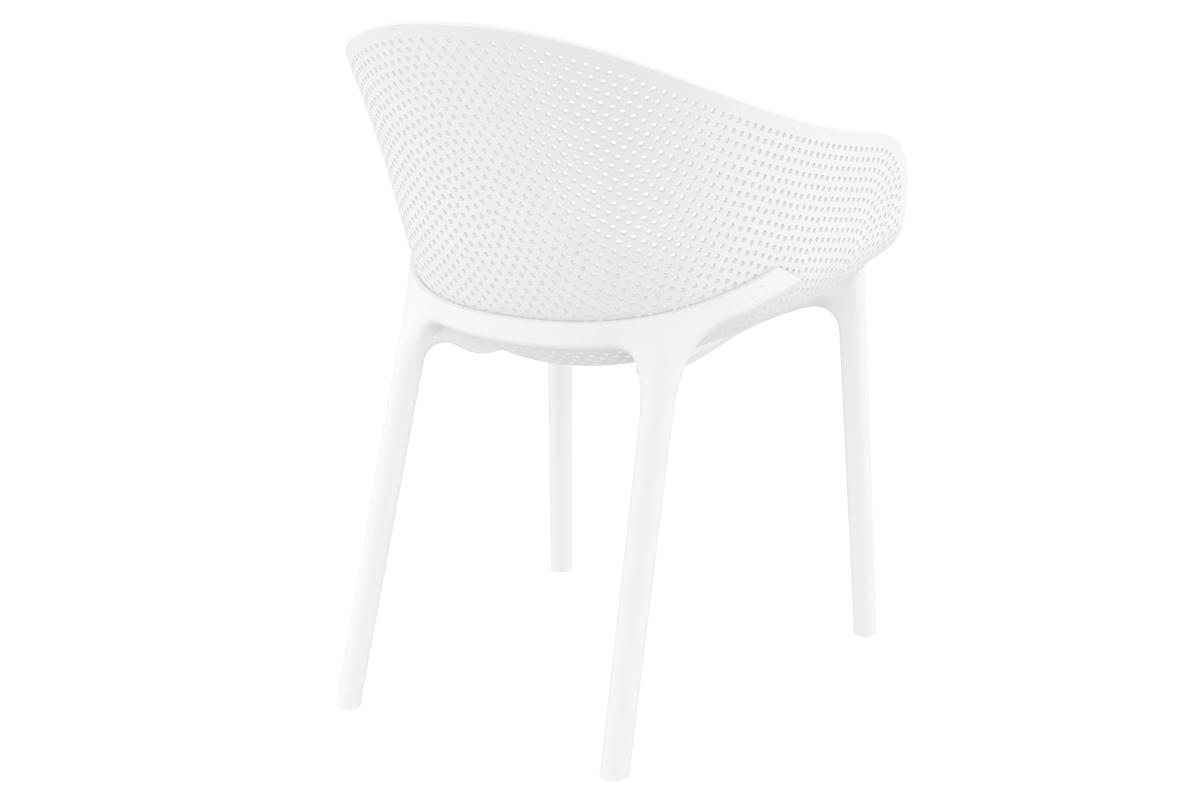 Sedie design bianche interno / esterno (gruppo di 4) OSKOL ...