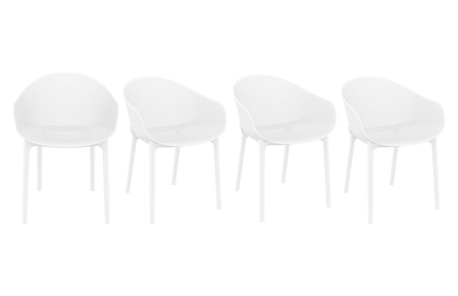 Sedie Bianche Design : Sedie design bianche interno esterno gruppo di oskol miliboo