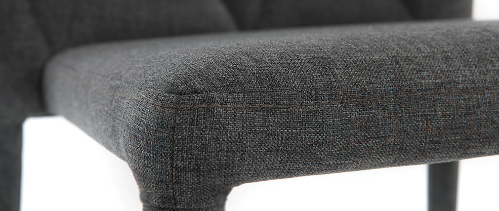 Sedie design colore grigio scuro set di 2 KARLA