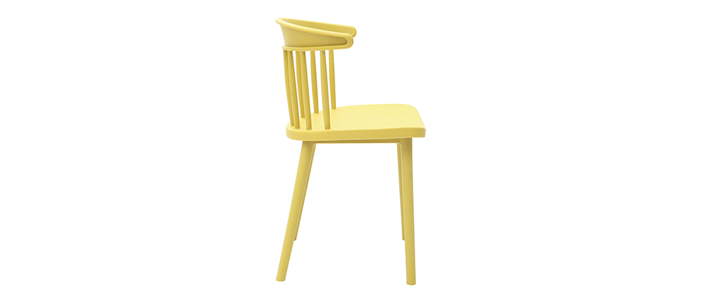 Sedie design con barre gialle interne / esterne (set di 2) HOLLY