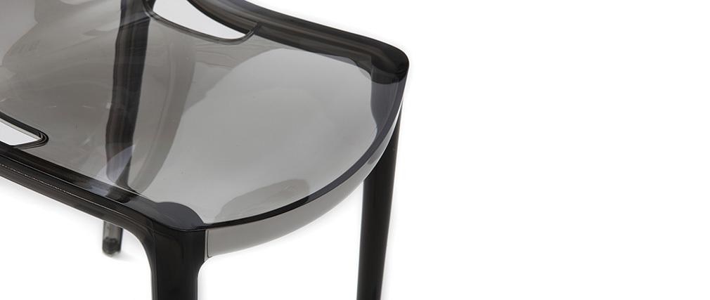 Sedie design grigio fumé impilabili (gruppo di 2) YZEL