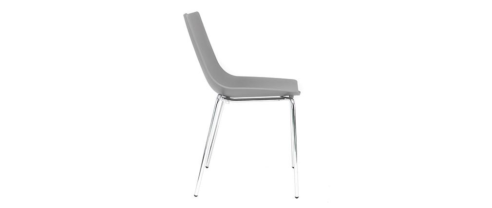 Sedie design Grigio impilabili con piedi in metallo lotto di 2 CELEBRATION