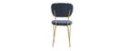 Sedie design in velluto Blu e struttura in metallo Dorato lotto di 2 LEPIDUS