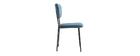 Sedie design in velluto Blu e struttura in metallo Nero set di 2 LEPIDUS