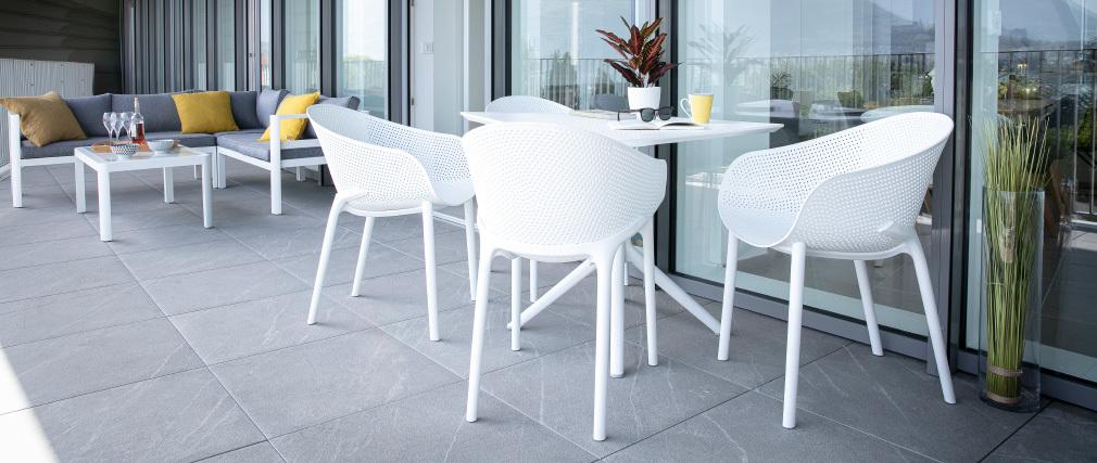 Sedie design nere interno / esterno (gruppo di 4) OSKOL