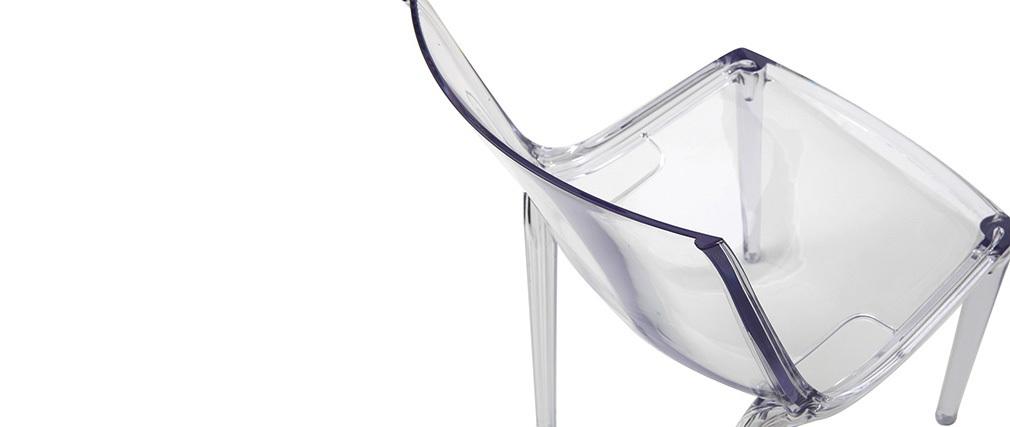 Sedie design trasparenti impilabili (gruppo di 2) YZEL