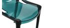 Sedie design verde acqua impilabili (gruppo di 2) YZEL