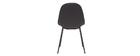 Sedie di design in tessuto grigio scuro e metallo (set di 2) COX