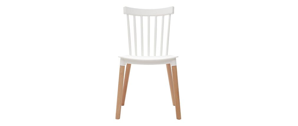 sedie in polipropilene bianco set di 2 GAMBO