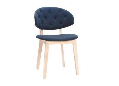 Sedie in tessuto, colore: Blu scuro, modello: SOFFY