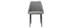 Sedie in tessuto effetto velluto grigio (set di 2) ELLO