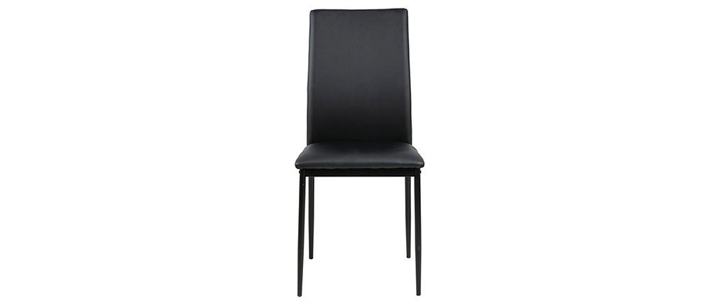 Sedie nere di design (set da 4) LUCKY