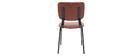 sedie vintage marrone chiaro piedi in metallo (lotto di 2) LAB