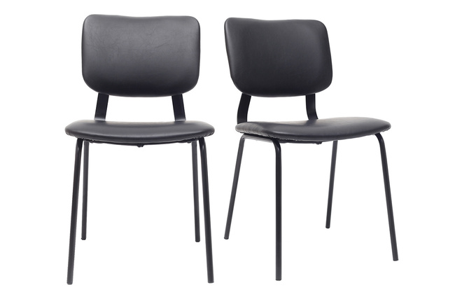 Sedie In Metallo Vintage : Sedie vintage nere con piedi in metallo lotti di lab miliboo