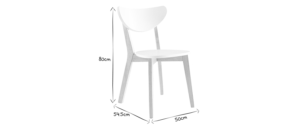 Set di 2 sedie design color bianco LEENA