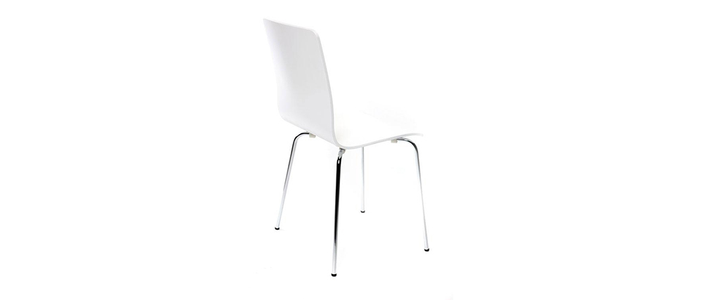 Set di 2 sedie design colore bianco NELLY