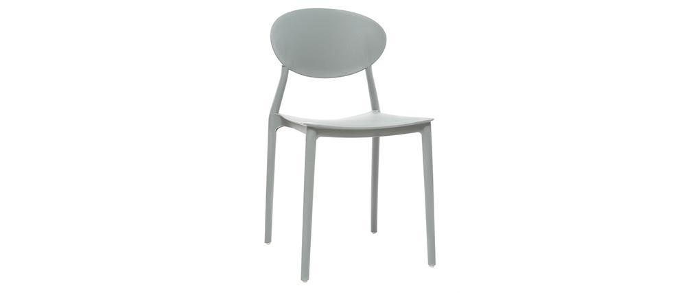 Set di 2 sedie design Grigio in polipropilene ANNA