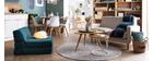 Set di 2 sedie design piede legno seduta bianca PAULINE