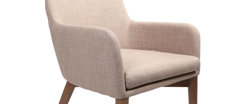 Set di 2 sedie design poliestere beige SHANA