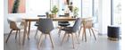 Set di 2 sedie design scandinave legno e tessuto grigio scuro MATILDE