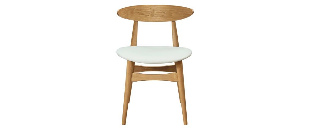 Set di 2 sedie in legno chiaro e bianco WALFORD