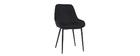 Set di 2 sedie in tessuto grigio chiaro HOLO