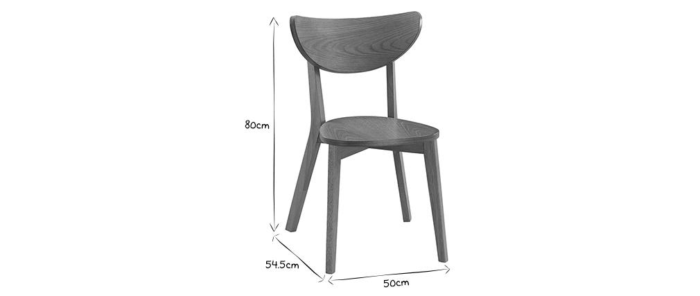 Set di 2 sedie quercia LEENA