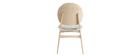 Set di 2 sedie scandinave in legno chiaro e tessuto grigio ELTON