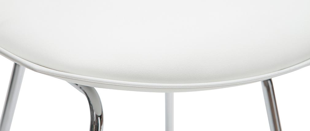 Set di 2 sgabelli da bar design bianchi 65 cm JUNE