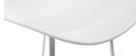 Set di 2 sgabelli da bar design bianchi H65 cm ELLA