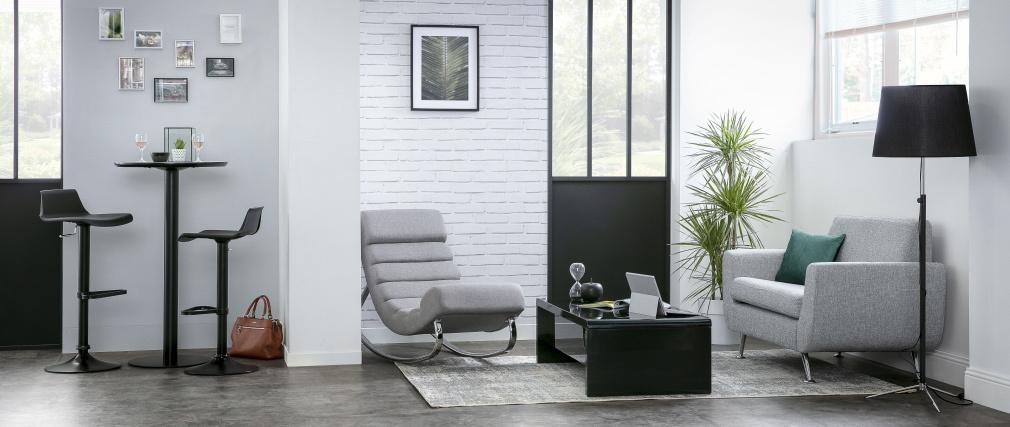 Set di 2 sgabelli da bar design bianchi KRONOS