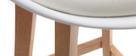 Set di 2 sgabelli da bar design bianco e legno 65cm PAULINE