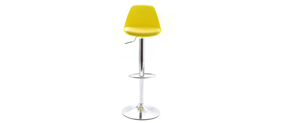 Set di 2 sgabelli da bar design colore giallo STEEVY