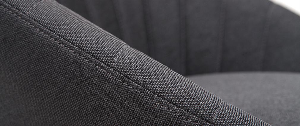 Set di 2 sgabelli da bar design tessuto grigio scuro 65 cm SHERU