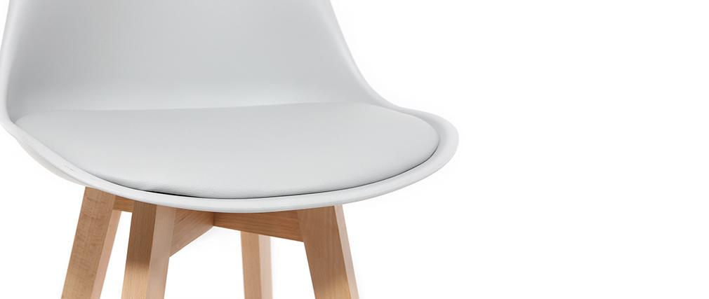 Set di 2 sgabelli da bar grigio chiaro e legno 65cm PAULINE