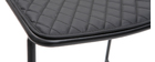 Set di 2 sgabelli da bar in metallo nero con cuscino 65 cm FEELING