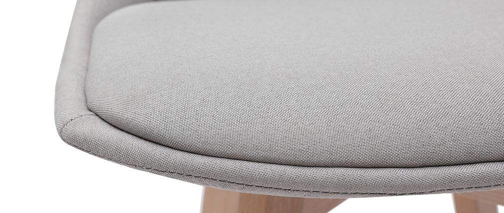 Set di 2 sgabelli da bar scandinavi grigio chiaro 65 cm MATILDE