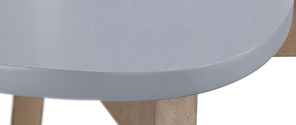 Set di 2 sgabelli da bar scandinavo grigio e legno 65cmLEENA