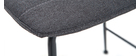 Set di 2 sgabelli da bar tessuto e metallo grigio scuro 65 cm SAURY