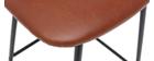 Set di 2 sgabelli da bar vintage marrone chiaro con piedi in metallo 65cm LAB