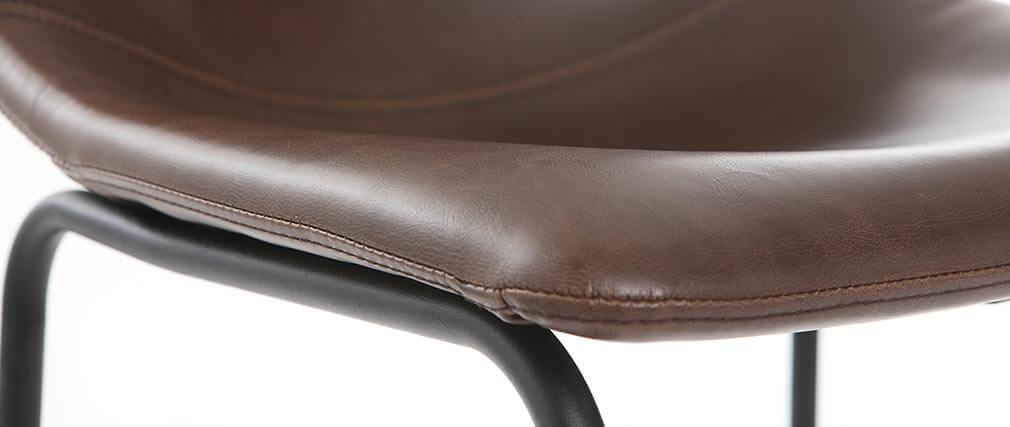 Set di 2 sgabelli da bar vintage PU marrone 73cm NEW ROCK