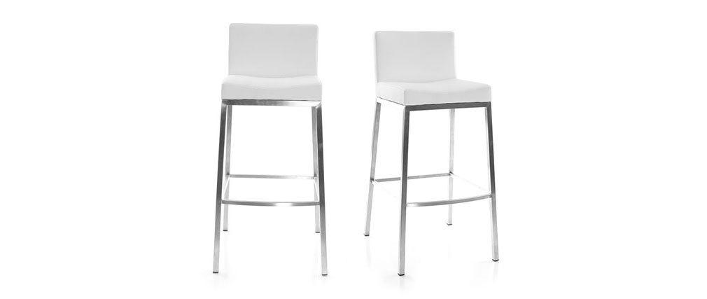 Set di 2 sgabelli design bianco Epsilon