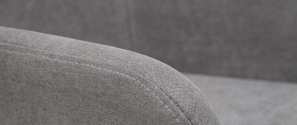 Set di 2 sgabelli in tessuto effetto velluto grigio 65 cm AMIKA