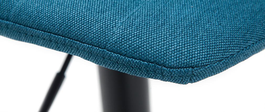 Set di 2 sgabelli regolabili tessuto e metallo blu anatra SAURY