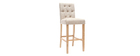 Set di 2 sgabelli/sedie da bar in tessuto Naturale 75cm RIVOLI